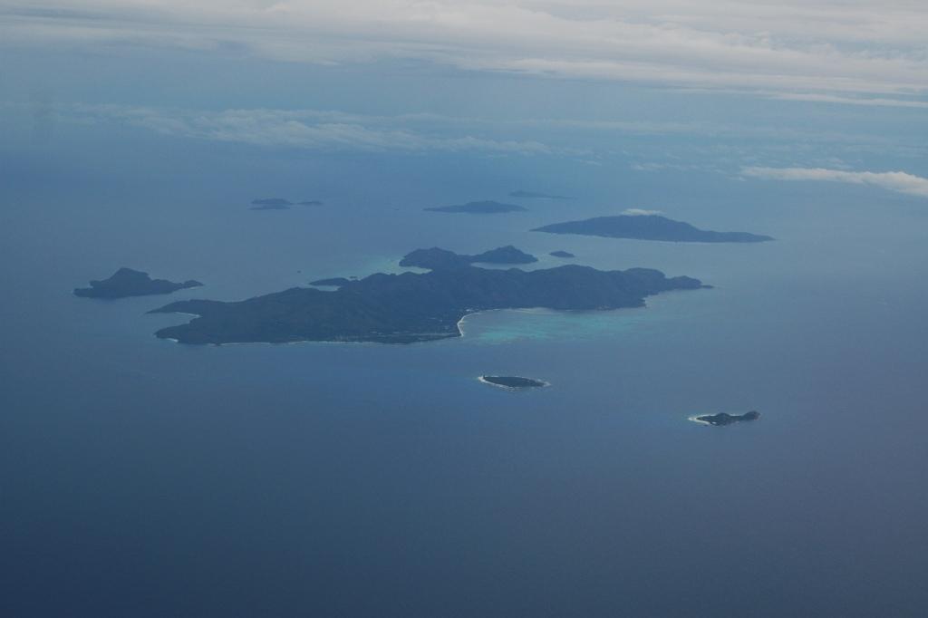 Seychelles Praslin lentokoneesta