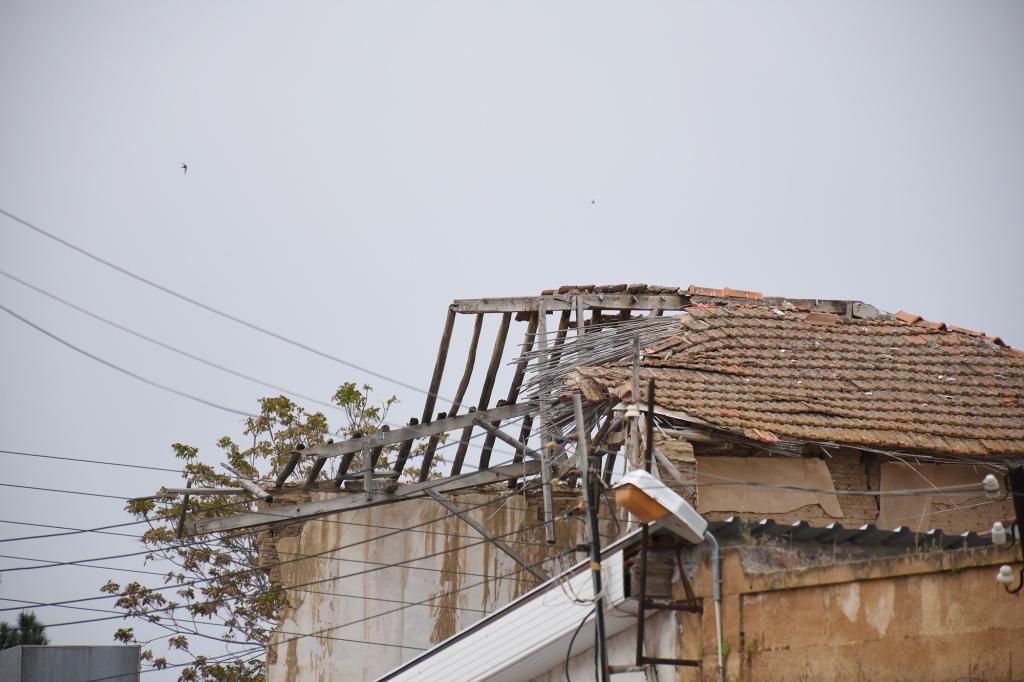 Rakennuksia Nikosian rajalla