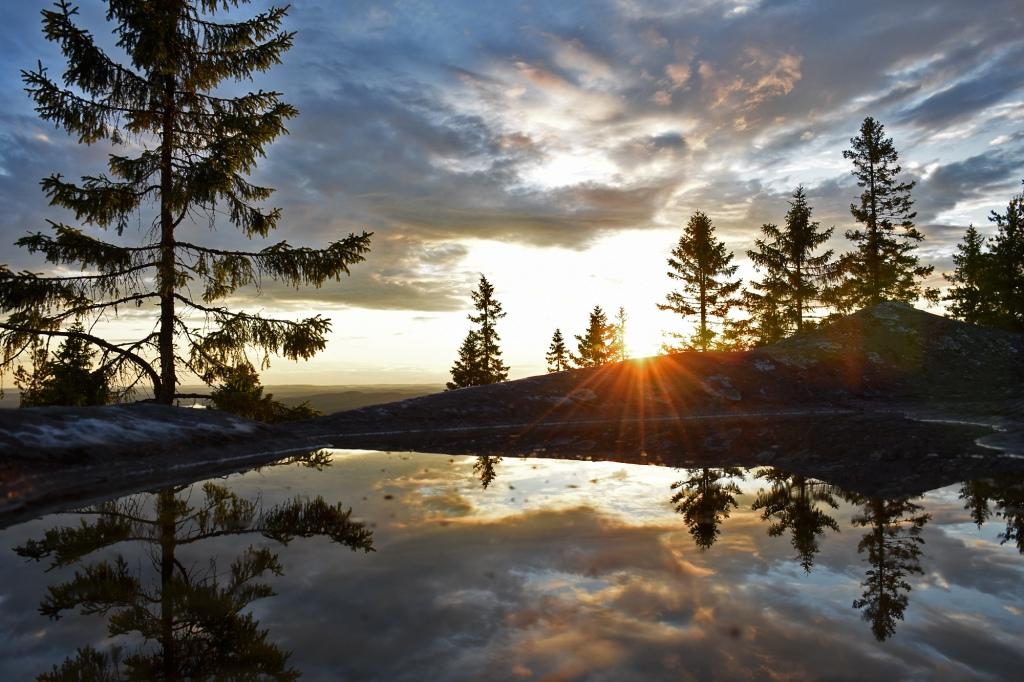 Auringon heijastus Koli