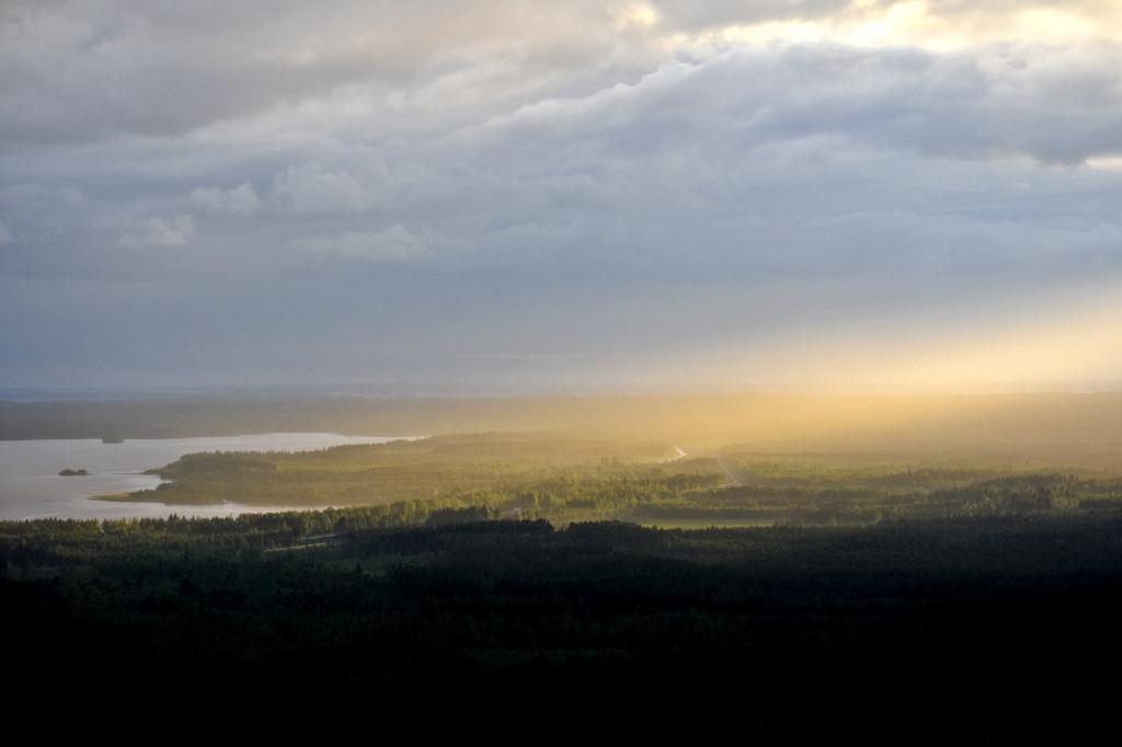 Kivesjärvi auringonvalossa