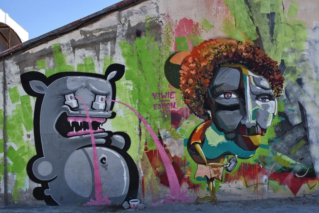 Limassol graffiti muraali
