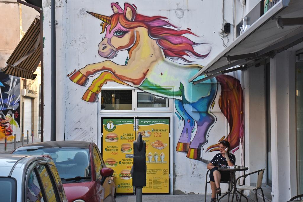 Limassol graffiti yksisarvinen