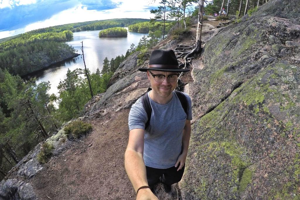 Repovesi-selfie huipulla
