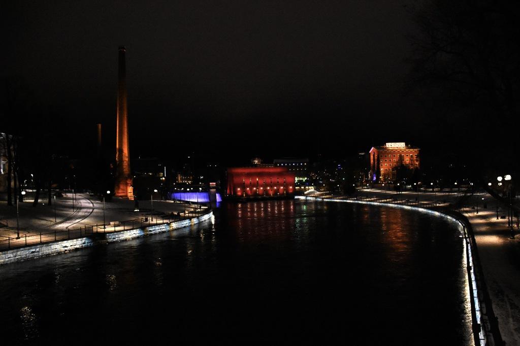 Tammerkoski Finlayson yölla