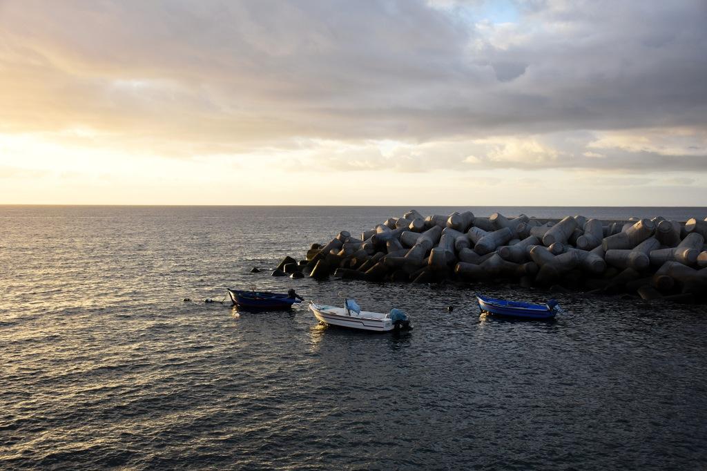 Madeira auringonnousu veneet