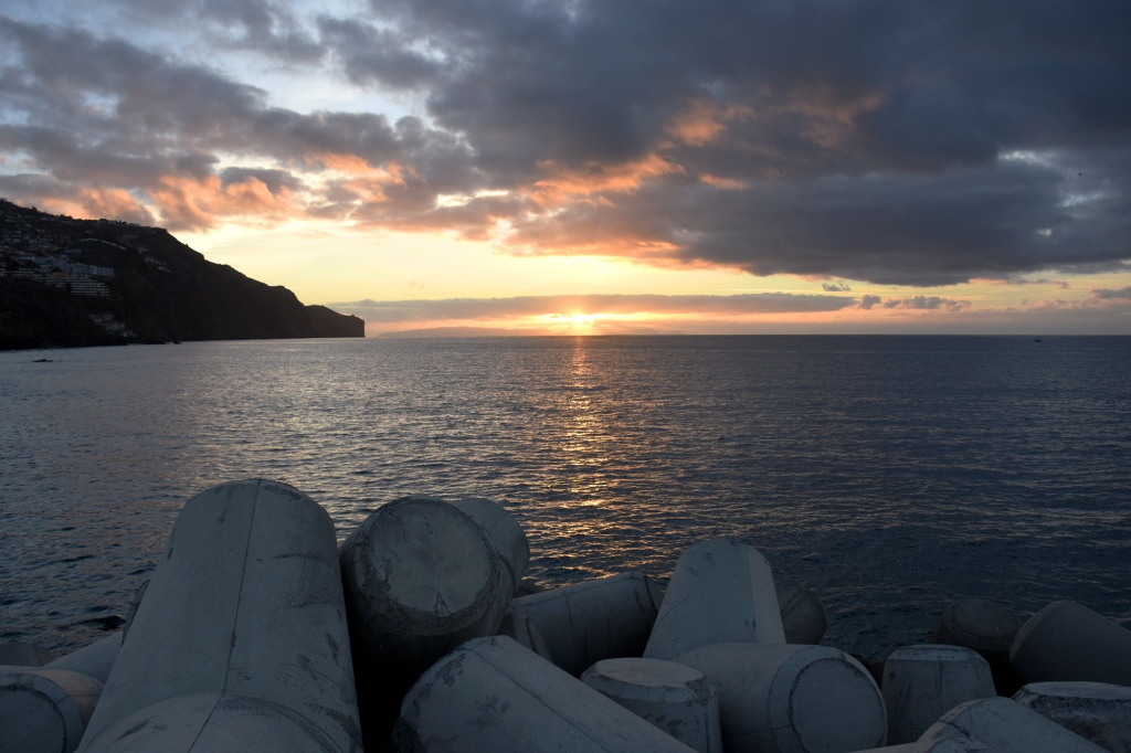 Madeira auringonnousu horisontista