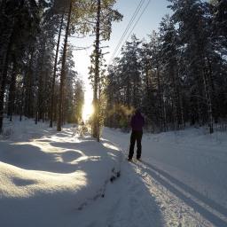 Täydellinen talvipäivä Lahden hiihtoladuilla