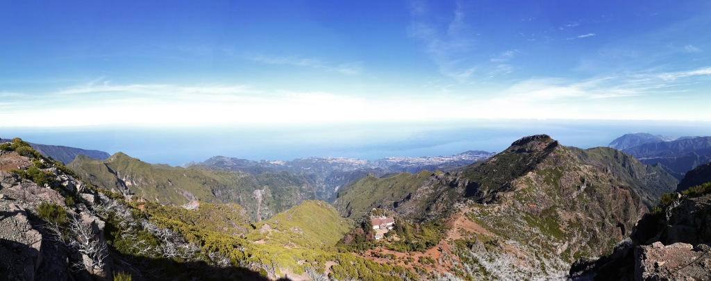 Pico Ruivo panoraama