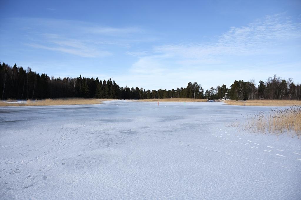 Ryssjeholmsfjärden talvella
