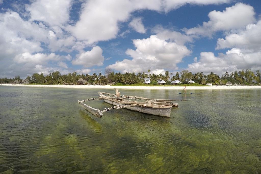 Perinteinen kalastusvene Sansibarilla