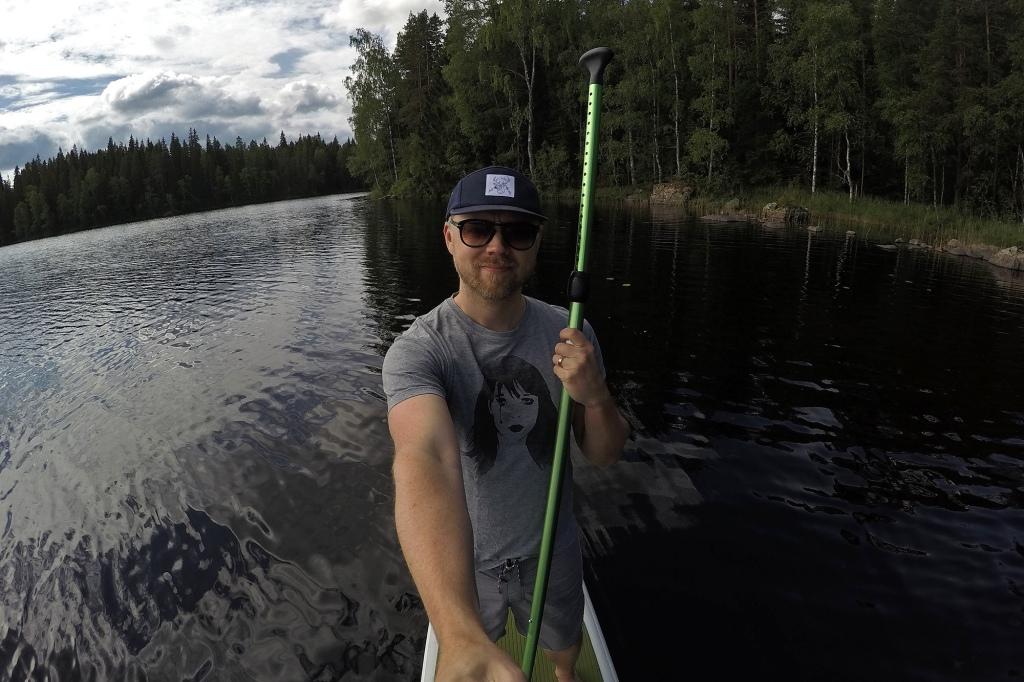 Juhannus-SUP selfie