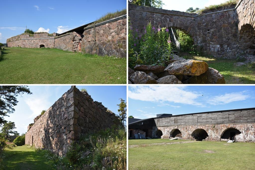Svartholman muureja ja rakennuksia