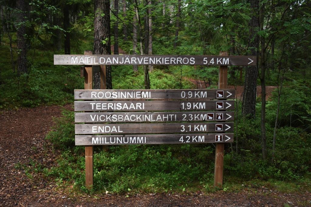 Teijon kansallispuiston reitit