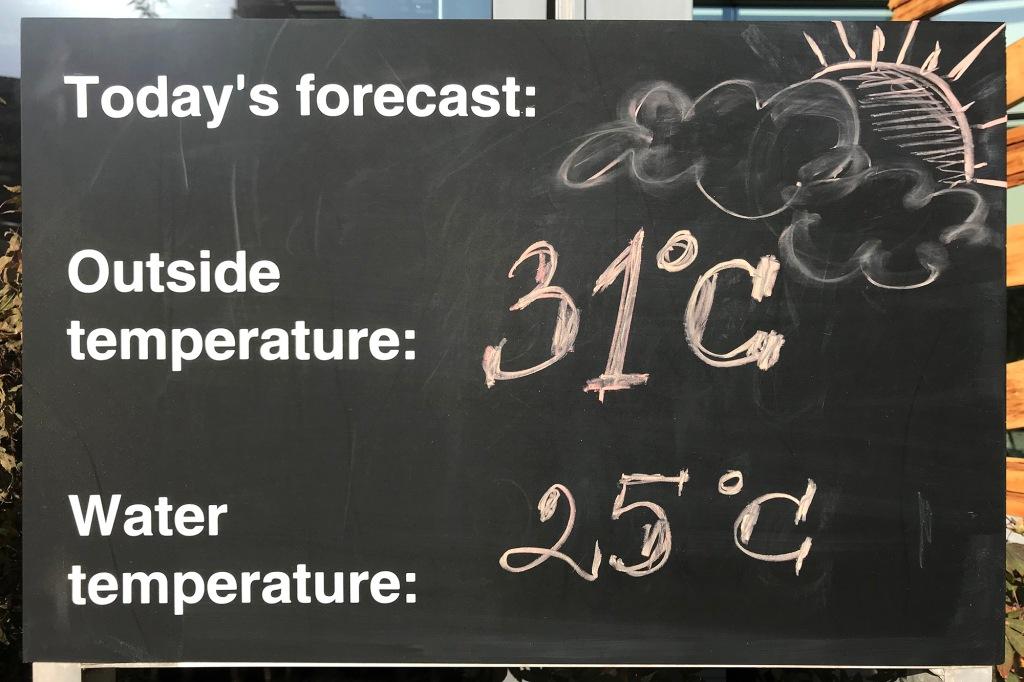 Lämpötilat hotellilla Bukarestissa