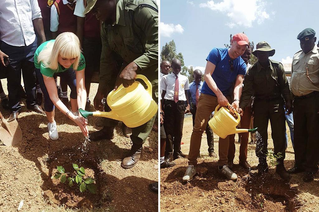 Puiden istutusta Keniaan