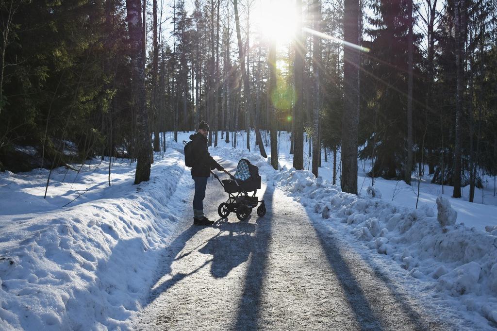 Vaunureissu Espoon keskuspuistoon