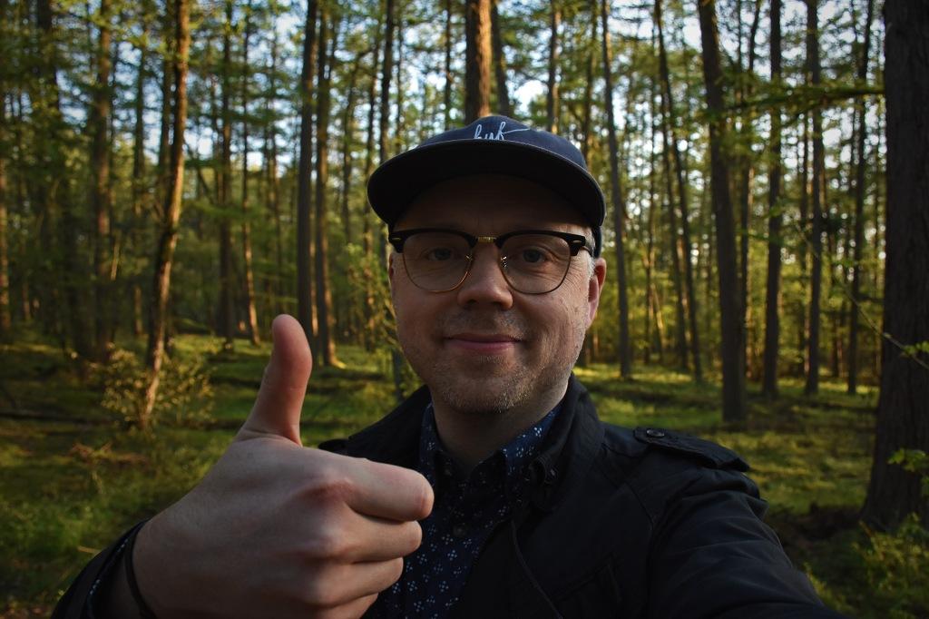 Selfie Utrechtse Heuvelrugin kansallispuistossa