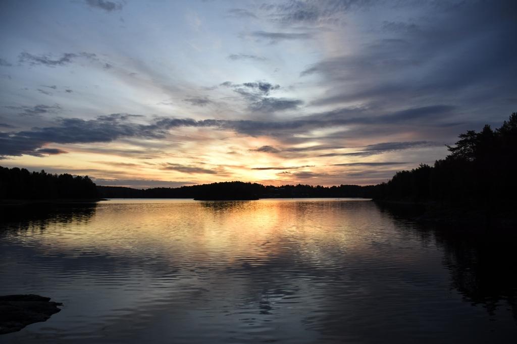 Auringonnousu Sulosaaren sillalta