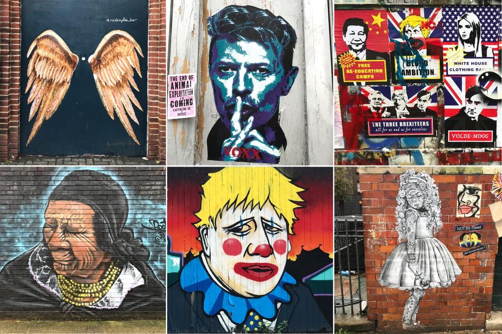 Katutaidetta Lontoon Shoreditchissa