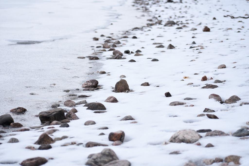 Luminen Saimaan ranta