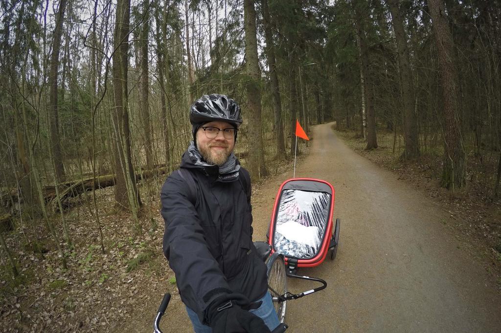 Pyöräkärrylenkki-selfie