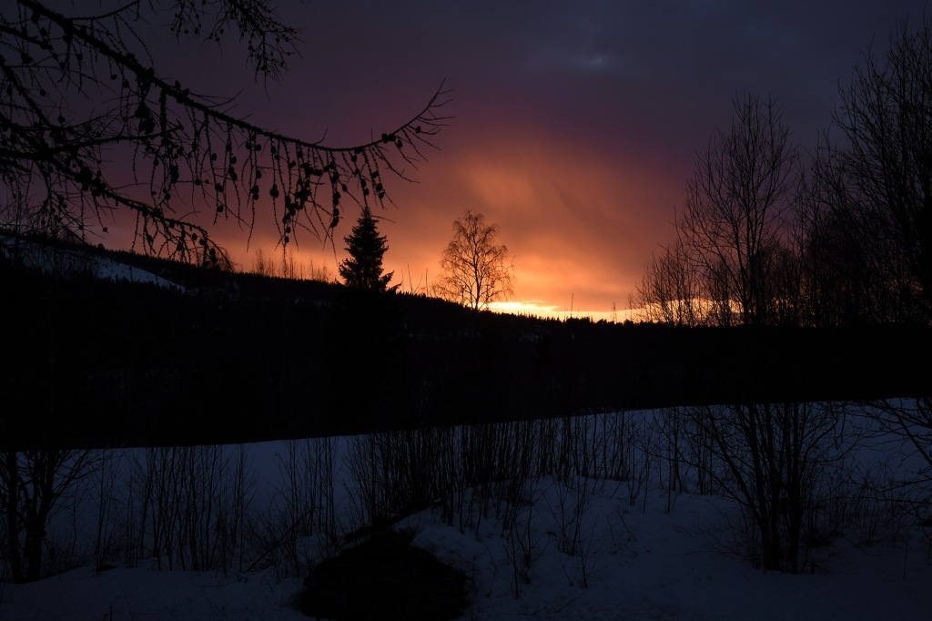 Viimeisen illan auringonlasku Vuokatissa