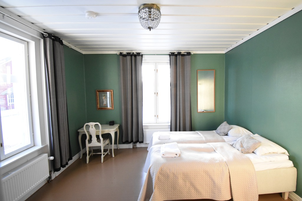 Haapala BnB:n vihreä huone