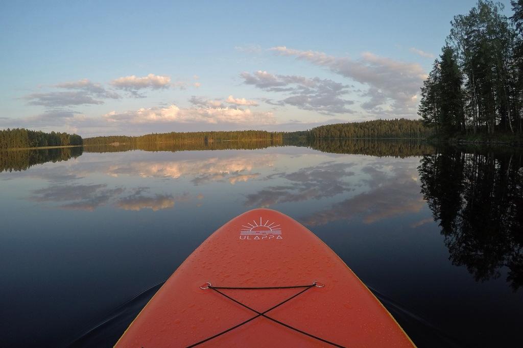 Peilityyni järvi Ulappa Aalto -laudan testisuppailulla